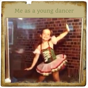 young dancer with frame